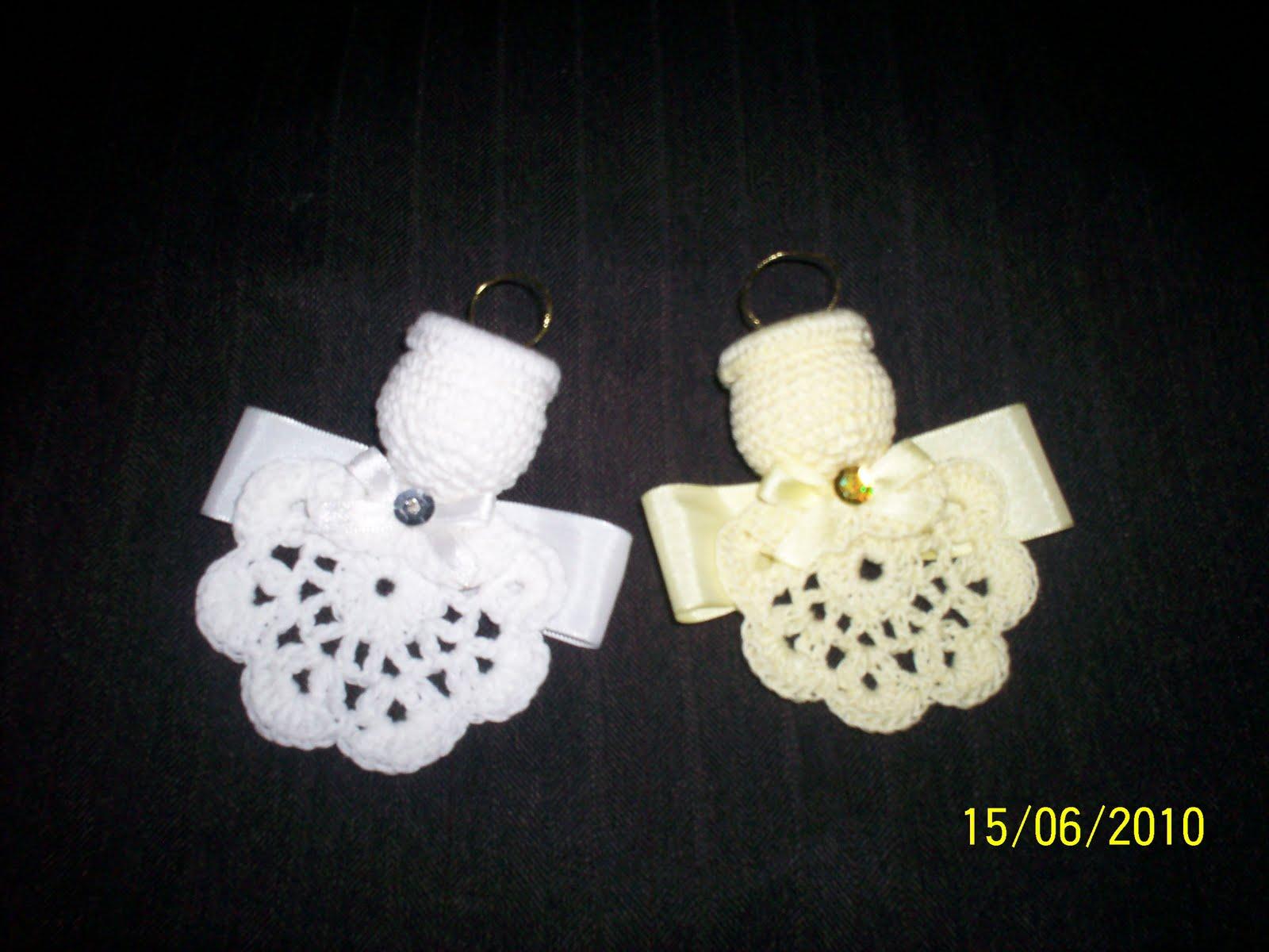 angelitos en crochet se pueden ser colgantes o con iman