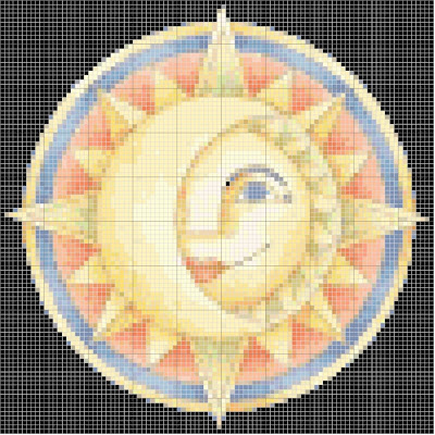 Maio8 Ponto de Cruz Sol, Estrela e Lua para crianças