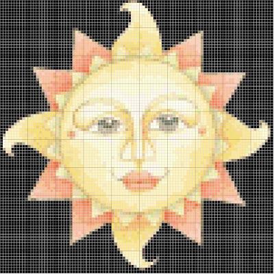 Maio10 Ponto de Cruz Sol, Estrela e Lua para crianças