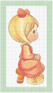 Agost04 Esquemas de Ponto Cruz com Bebés para crianças
