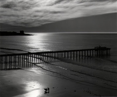 ansel adams photography. Ansel Adams Scripps Pier, 1966