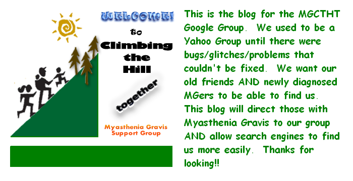 Myasthenia Gravis - Climbing the Hill Together