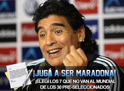 Juga a ser Maradona y elegi los 23 que van al Mundial por Argentina