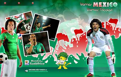 Descargar Fondos de Pantalla (Wallpapers) Mundial 2010 de Mexico, Guillermo Memo Ochoa y Andres Guardado