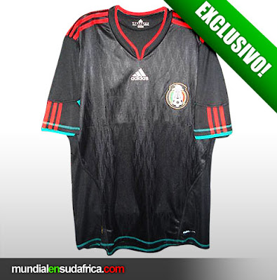 Camiseta Playera Suplente Mexico Sudafrica 2010 (Anticipo)