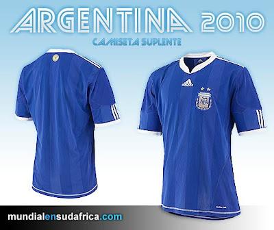 Camiseta Argentina Suplente Mundial Sudáfrica 2010