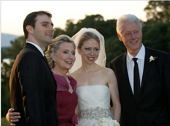 Mark with the Clinton family