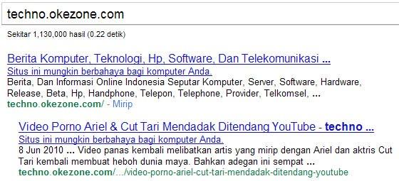 Situs Okezone Berbahaya atau kena hack virus