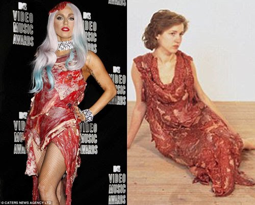 Lady Gaga Metal Dress Vma. Lady Gaga Plagiarisms