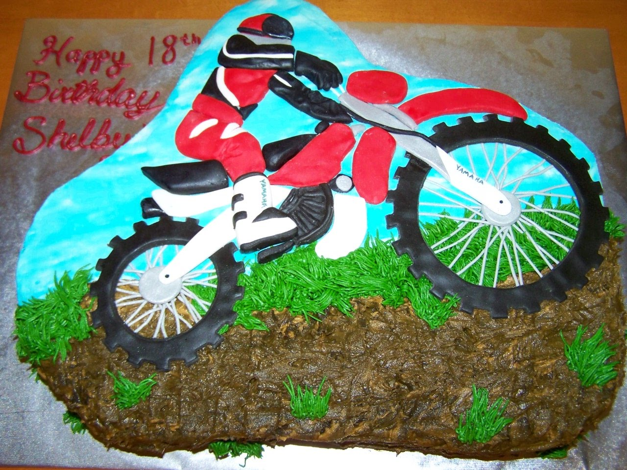 dirt bike cake - photo #7