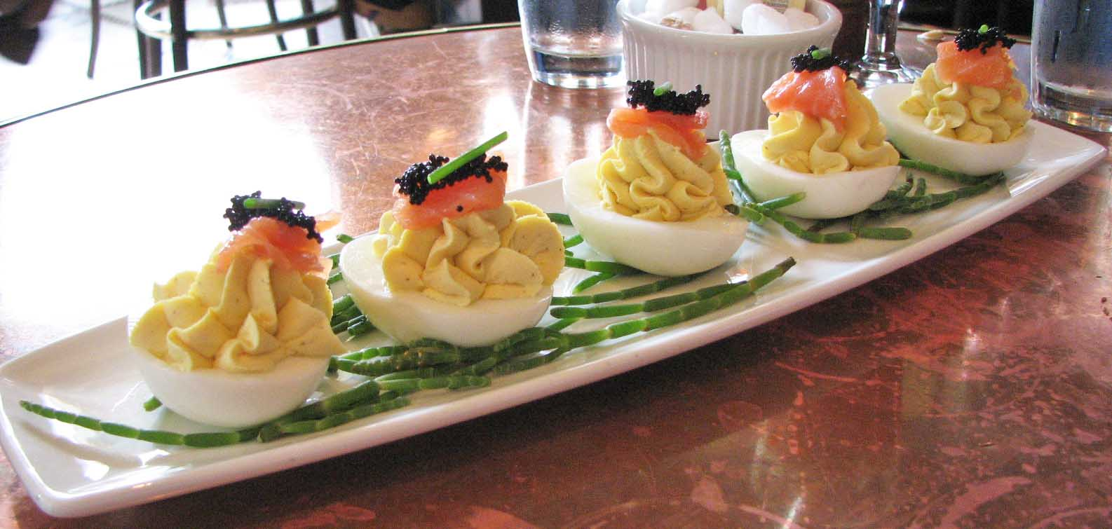Deviled Quail Eggs With Black Caviar Recipes — Dishmaps