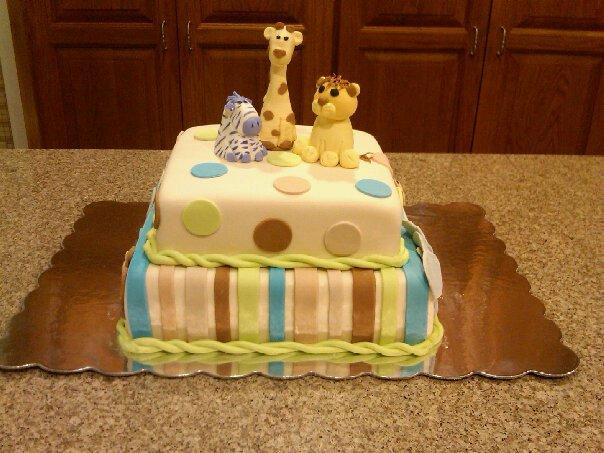 katrina 39 s custom cakes baby animals baby shower
