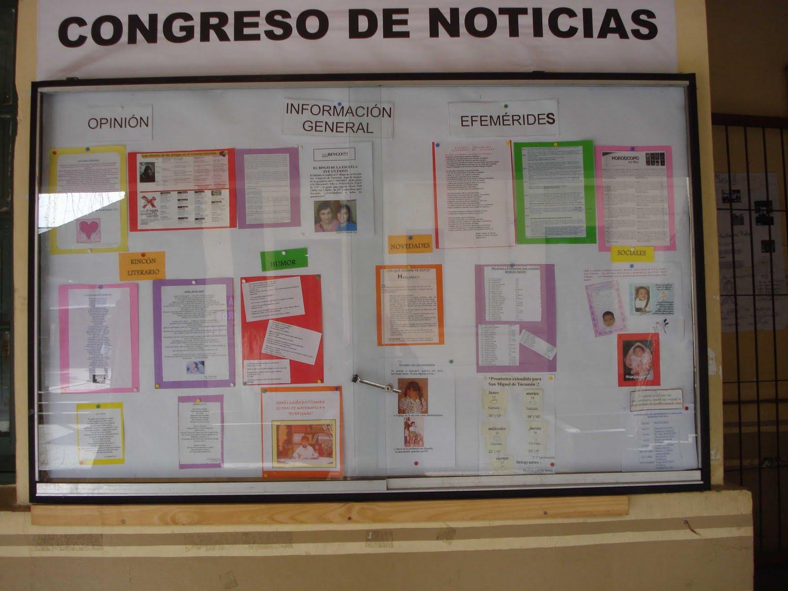 Escuela secundaria congreso de tucum n congreso de noticias for Componentes de un periodico mural