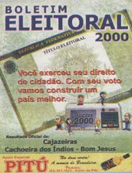 BOLETIM ELEITORAL COM TODOS OS DADOS  DAS ELEIÇOES