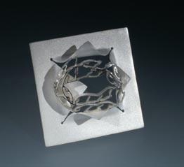 Spiral Square Brooch