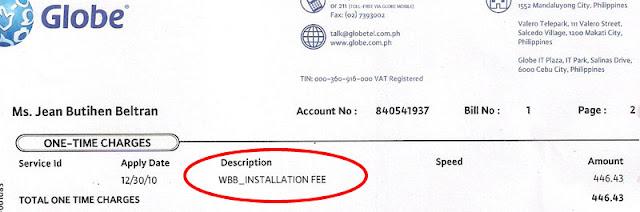 globe wimax bill