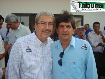 Imbassahy e Claudionor Dutra, presidente do PSDB em Conquista