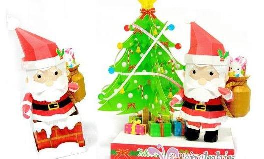 download santa paper craft pdf free here download santa claus
