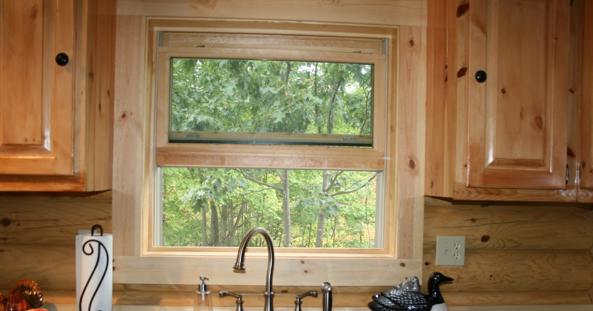 Building a log cabin windows in a log cabin for Log home windows