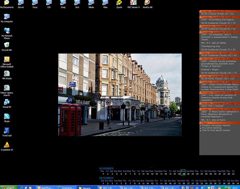 Desktop Calendar 7 : All portable active desktop calendar