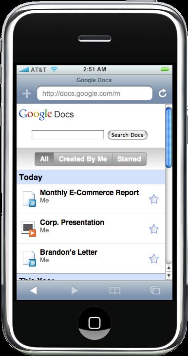google docs iphone  edit