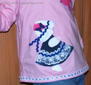 Subonnet Sue: аппликация на детскую блузку - куколка и бабочка