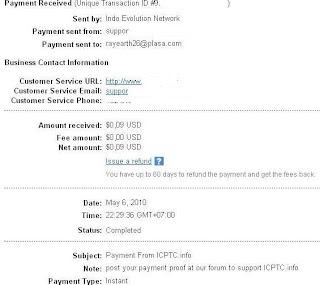 Pembayaran dari IC PTC