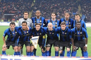 Inter Milan starting line up against Sampdoria