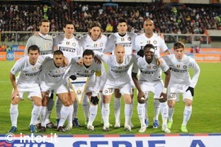 foto pemain Inter Milan saat melawan Catania