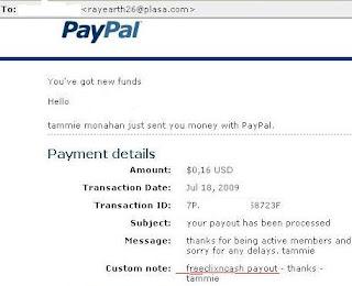 Pembayaran dari Freeclixncash PTC