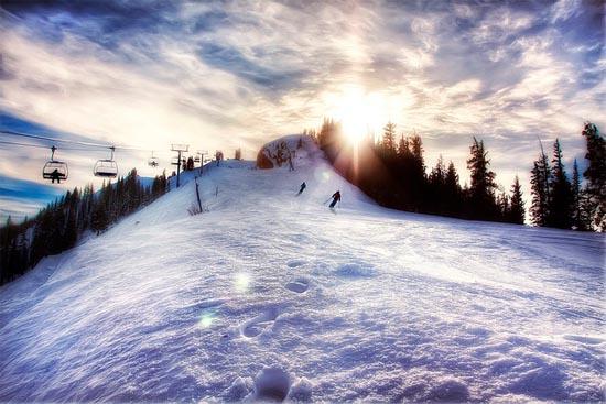 Last Run of the Day, Aspen Highlands by WanderingtheWorld