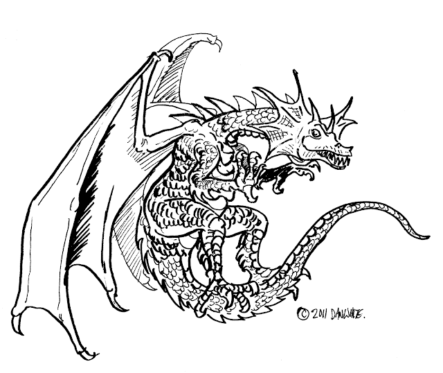 Dragon Coloring Pages PrintActivities  - dragon coloring pages for adults