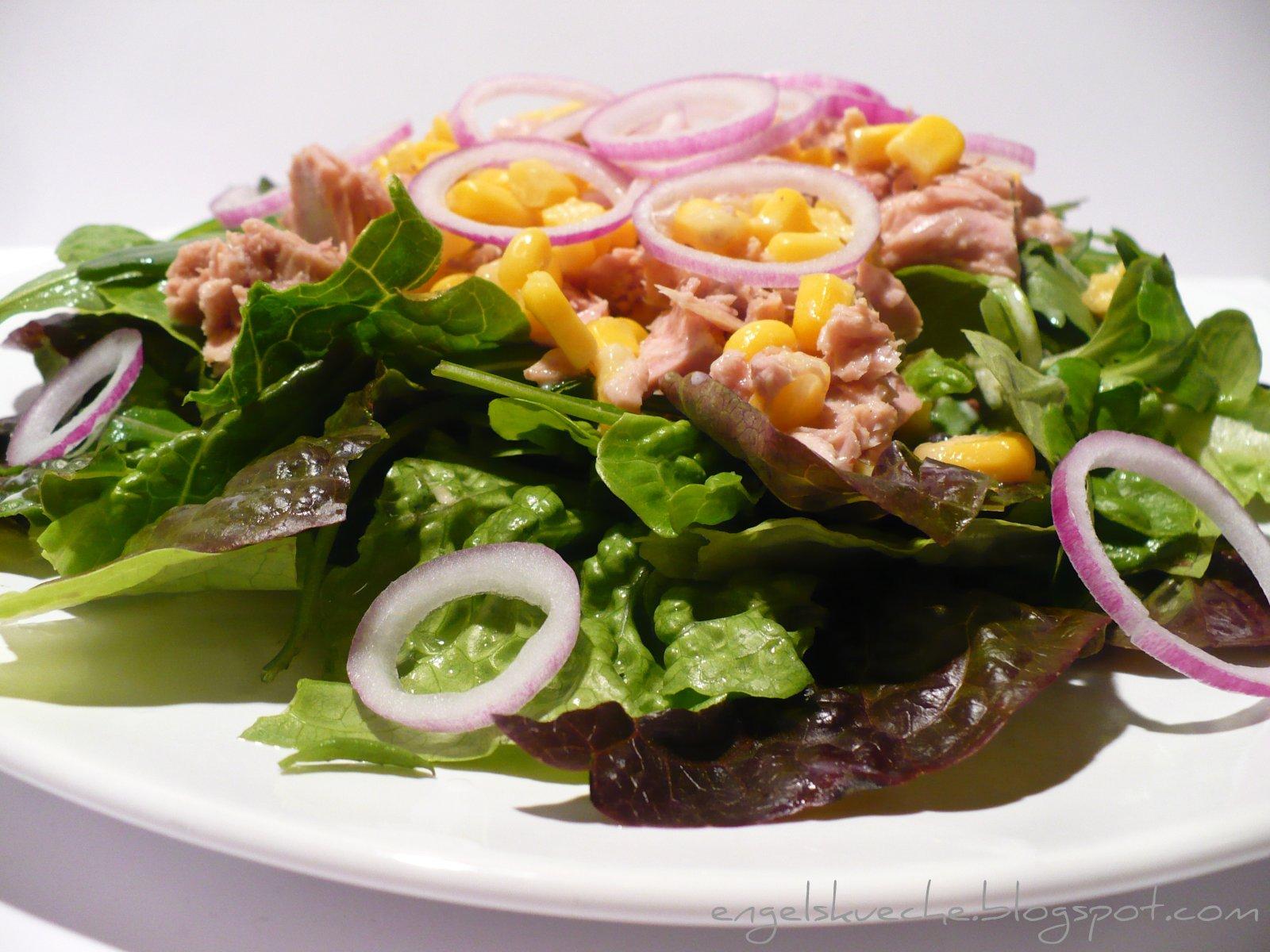 Essen Aus Engelchens K Che Salat Mit Thunfisch Mais Und