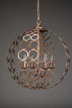 Antique wrought iron chandelier from Mecox Gardens