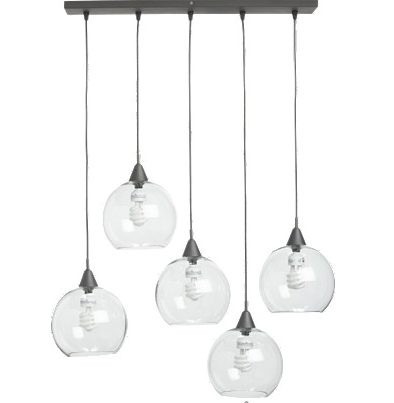 Five glass globe pendant lights from cb2