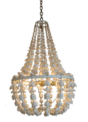 Floral cast resin chandelier from Maison Luxe