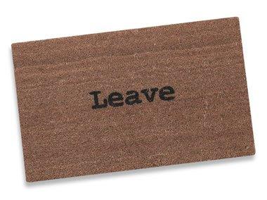 Toxiferous designs leave doormat - Doormat that says leave ...