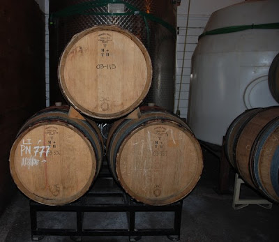 Wine is made in oak barraques, stainless steel tanks and polytanks. (c)2008 SmellsLikeGrape