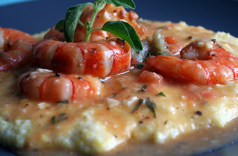 Mer's Kitchen Creations: Shrimp & Grits with Creamy Corn Sauce