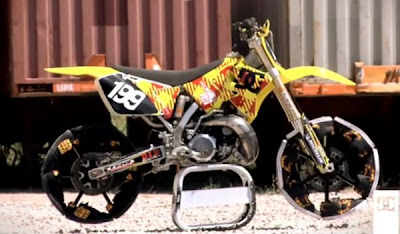 Travis Pastrana Shoe Motorbike