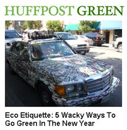 Eco Etiquette: 5 Wacky Ways To Go Green In The New Year - Recycling used pens for the Mercedes Pens Art Car at #5
