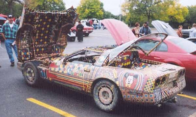 Painted Corvette by Buckeye Art Car-Side