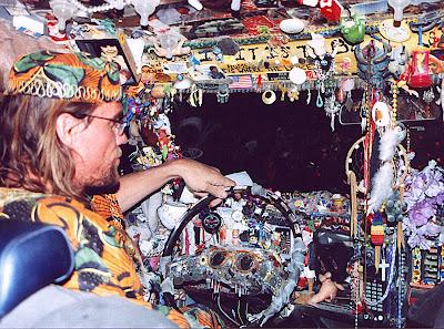Inside Duke Art Car by Rick McKinney