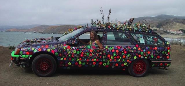 Grooovalicious Purple Princes of Peace Art Car - Avril Hughes