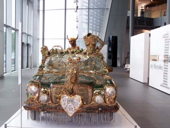 Mercedes Art Car -  Overcoming Cancer with Unchain My Love