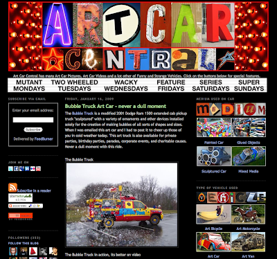 Art Car Central Blog Screen Shot