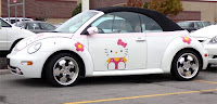 Hello Kitty VW Car