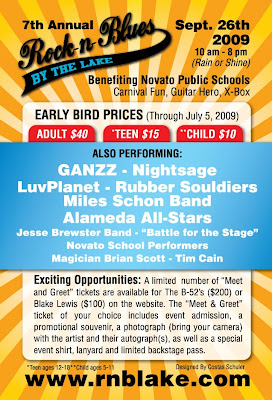 Rock'n Blues Festival by the Lake - 4x6 Flyer Back