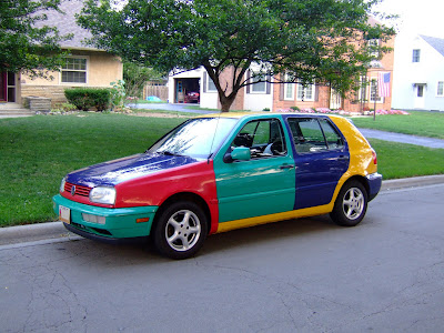 The Original 1996 VW Golf Harlequin Art Car