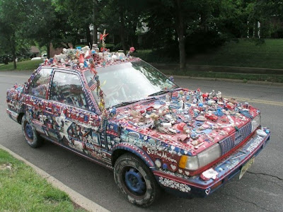 Patriotic Art Car in remembrance of 9/11